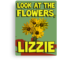 Look At The Flowers, Lizzie #2 Canvas Print