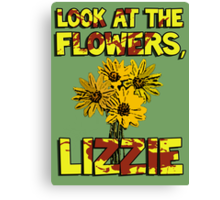 Look At The Flowers, Lizzie #3 Canvas Print