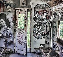 Amy Winehouse Graffiti Train by David Letts