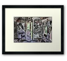 Amy Winehouse Graffiti Train Framed Print