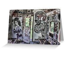Amy Winehouse Graffiti Train Greeting Card