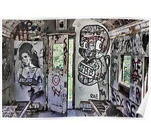 Amy Winehouse Graffiti Train Poster
