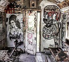 Amy Winehouse Graffiti Train II by David Letts