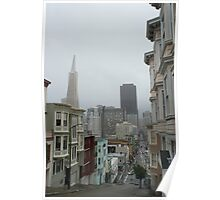 wet day in san francisco Poster