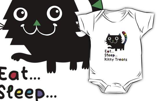 Eat, Sleep, Kitty Treats  by Andi Bird