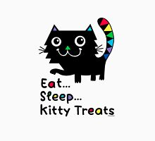 Eat, Sleep, Kitty Treats  Womens Fitted T-Shirt
