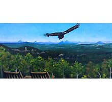 Spirited Eagle - Acrylic Painting Photographic Print