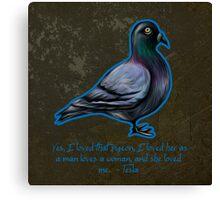 Nikola Tesla's Pigeon Canvas Print