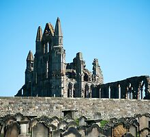 abbey ruins and graves by photoeverywhere