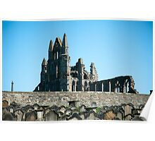 abbey ruins and graves Poster