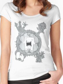 trippy domo  Women's Fitted Scoop T-Shirt