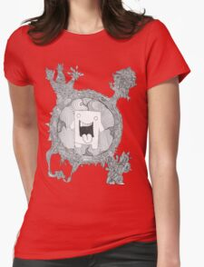 trippy domo  Womens Fitted T-Shirt