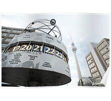 Berlin World Clock Poster
