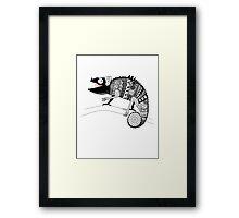 graphic ornamental chameleon Framed Print