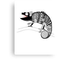 graphic ornamental chameleon Canvas Print