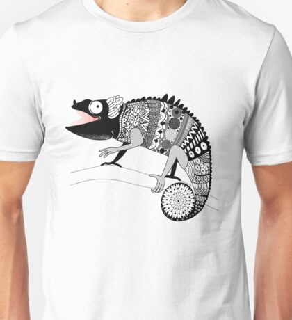 graphic ornamental chameleon Unisex T-Shirt