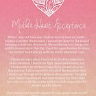 Affirmation - Mother Heart Acceptance by CarlyMarie