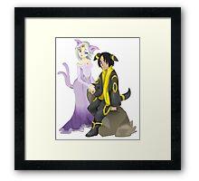 Espeon & Umbreon - Gijinka Framed Print