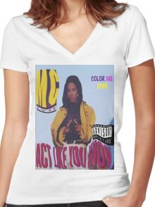 Lyte As A Rock, L.Y.L.L.Y.T.E  Women's Fitted V-Neck T-Shirt