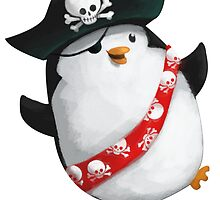 Cute Pirate Penguin by colonelle