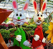 Bunnies with Baskets...Easter is Coming! by Gilda Axelrod