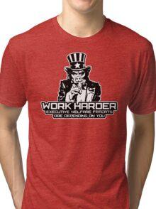 Corporate Welfare State Tri-blend T-Shirt