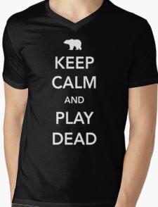 Bear. Keep calm and play dead Mens V-Neck T-Shirt