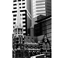 Albert St Uniting Church (B&W) Photographic Print