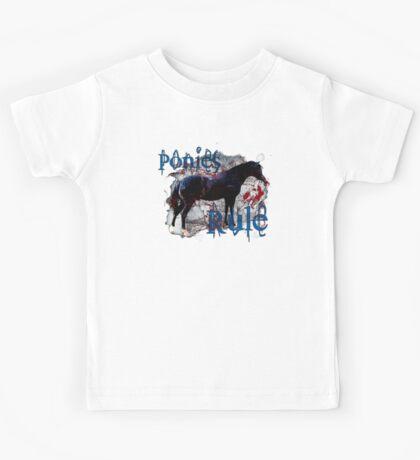 Ponies Rule Kids Tee
