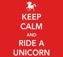 Keep Calm and Ride a Unicorn Baby Tee