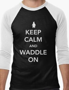 Penguin. Keep calm and waddle on Men's Baseball ¾ T-Shirt