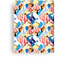 color pattern of the mountains Canvas Print