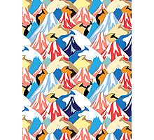 color pattern of the mountains Photographic Print