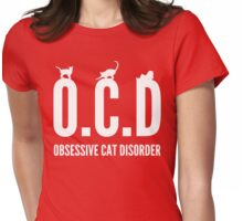 OCD. Obsessive Cat Disorder Womens Fitted T-Shirt