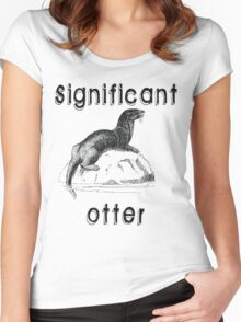 Significant Otter Women's Fitted Scoop T-Shirt