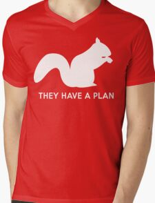 Squirrels. They have a plan Mens V-Neck T-Shirt