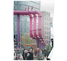 potsdamer platz water pipes Poster