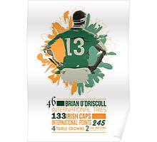 Brian O'Driscoll | Career Milestones Poster