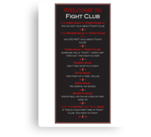 Fight Club - Welcome to Fight Club Canvas Print