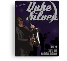 Duke Silver Canvas Print