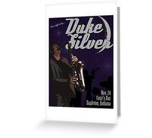 Duke Silver Greeting Card