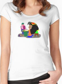 Chess - a great escape Women's Fitted Scoop T-Shirt