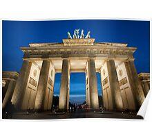 brandenburg gate floodlight Poster
