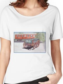 As Time Goes by in Old Tailem Town Watercolour Painting Women's Relaxed Fit T-Shirt