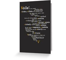 V For Vendetta - You Can Call Me V Greeting Card