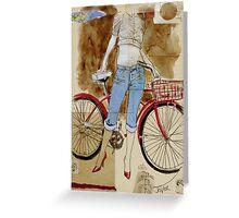 spring ride Greeting Card