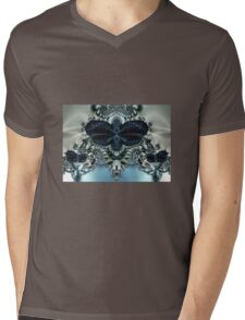 Blue Butterfly Lace II Mens V-Neck T-Shirt