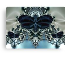 Blue Butterfly Lace II Canvas Print