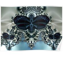 Blue Butterfly Lace II Poster
