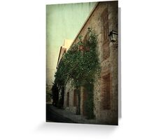sepia vintage house Greeting Card
